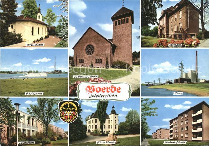 Voerde Niederrhein Ev Kirche St Paulus Kirche Rathaus Steag Rheinpartie Realschule Haus Voerde Bahnhofstr Kat. Voerde (Niederrhein)
