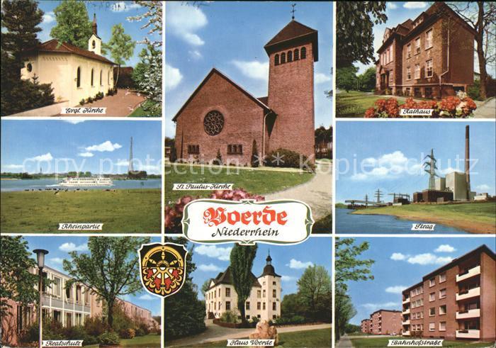 Voerde Niederrhein Ev Kirche St Pauluskirche Rathaus Rheinpartie Steag Haus Voerde Realschule Bahnhofstr Kat. Voerde (Niederrhein)