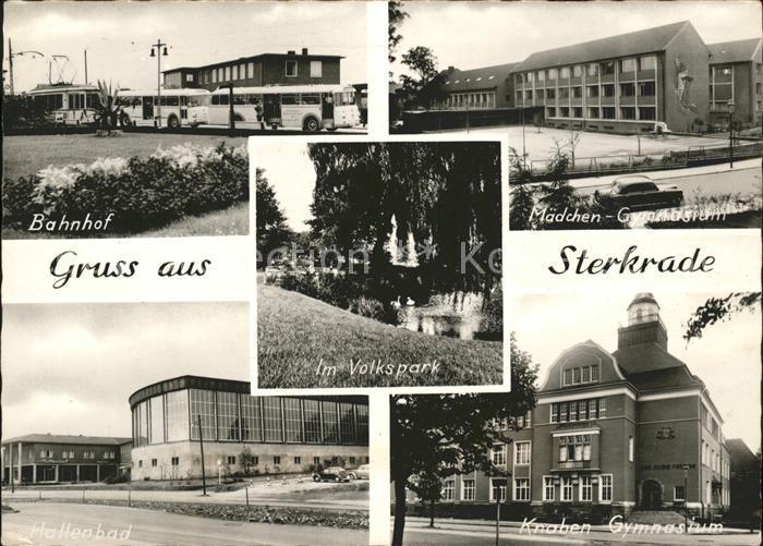 Sterkrade Bahnhof Volkspark Maedchengymnasium Hallenbad Knabengymnasium Kat. Oberhausen