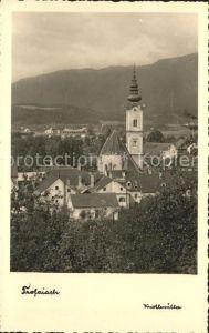 Trofaiach Ortsansicht mit Kirche Kat. Trofaiach