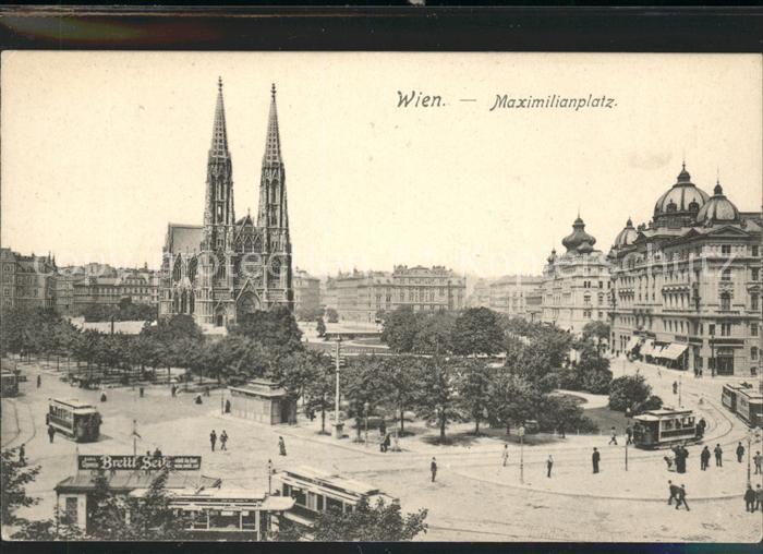 Wien Maximilianplatz Votivkirche Kat. Wien