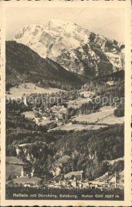 Hallein mit Duernberg und Hoher Goell Kat. Hallein