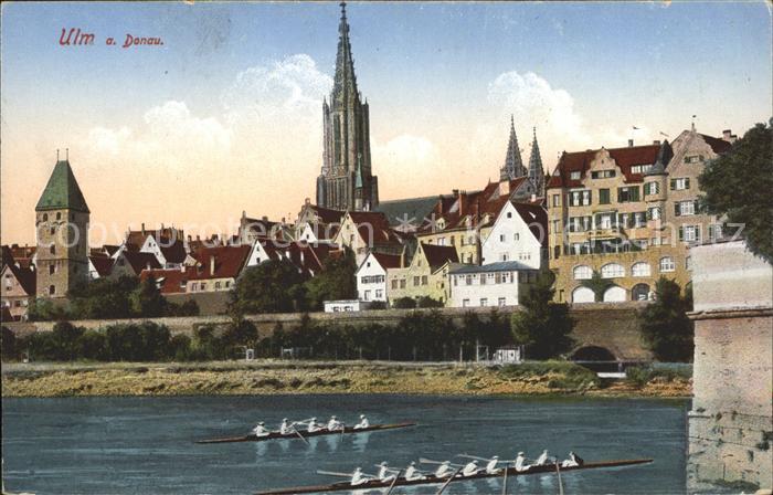Ulm Donau Donaupanorama Ruderboote 8ter 4er Kat. Ulm