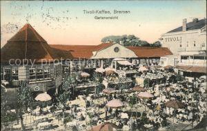 Bremen Tivoli Kaffee Gartenansicht Kat. Bremen