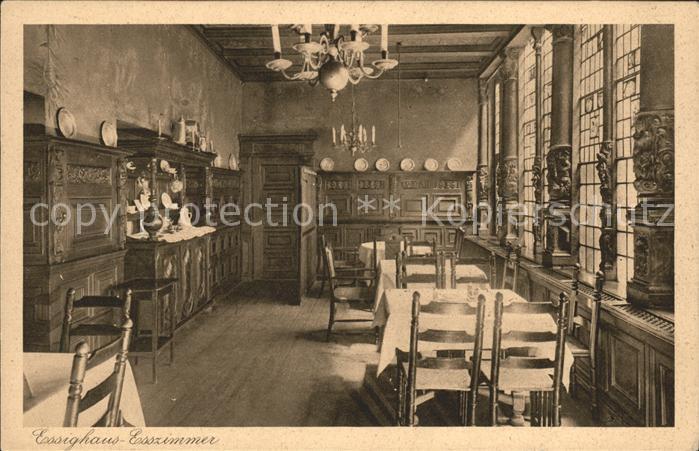 Bremen Alt Bremer Haus Essighaus Esszimmer Kat. Bremen