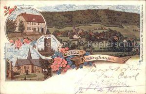 Roedinghausen Panorama Gasthof Sundermeier Kirche und Kriegerdenkmal Aussichtsturm / Roedinghausen /Herford LKR