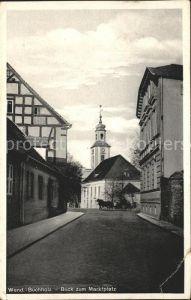 Wendisch Buchholz Blick zum Marktplatz mit Pferdekutsche Kat. Maerkisch Buchholz Spreewald
