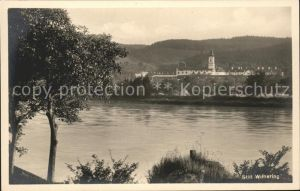 Wilhering Partie am Fluss Zisterzienser Stift Kat. Wilhering