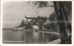 Ottensheim Uferpartie an der Donau Schloss Kat. Ottensheim