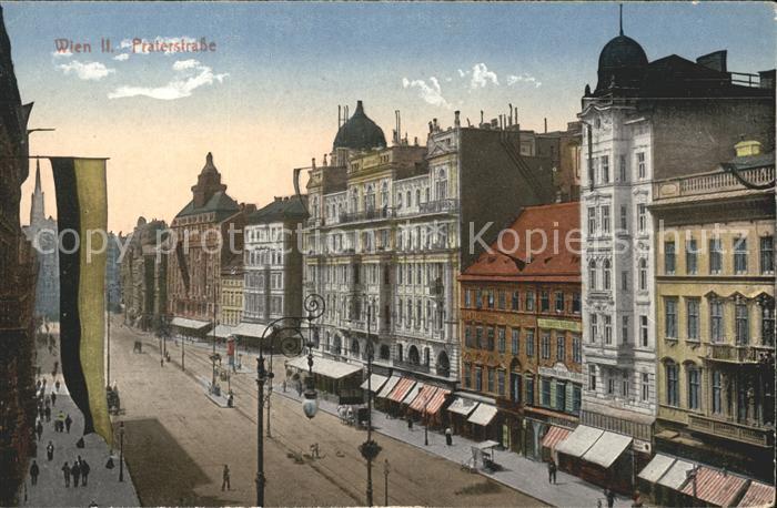 Wien Praterstrasse Fahne Kat. Wien