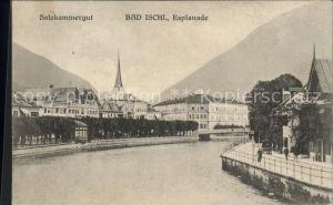 Bad Ischl Salzkammergut Partie an der Traun Esplanade Kirchturm Kat. Bad Ischl