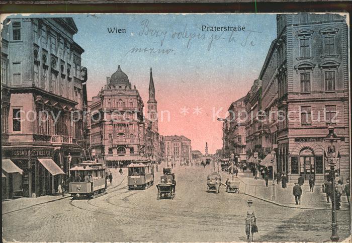 Wien Praterstrasse Strassenbahn Kat. Wien