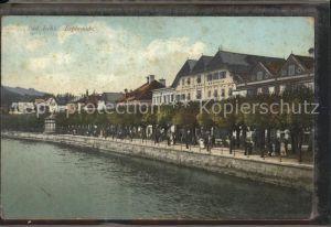 Bad Ischl Salzkammergut Esplanade Uferpromenade an der Traun Hotel Kat. Bad Ischl