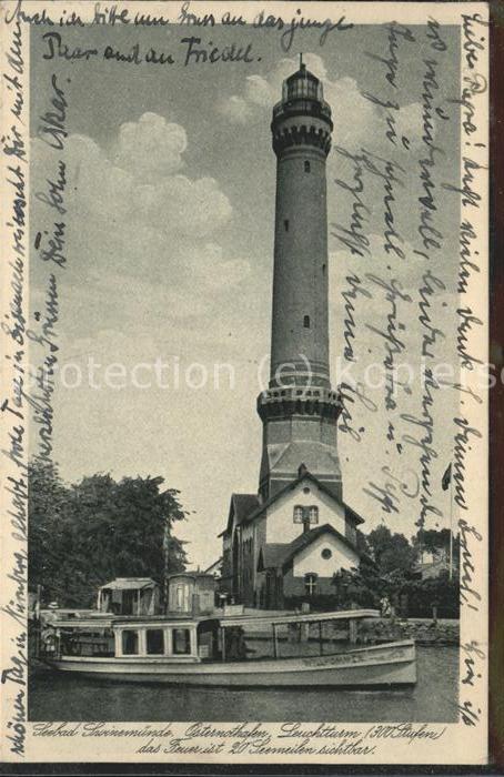 Leuchtturm Lighthouse Swinemuende Osternothafen  / Gebaeude /