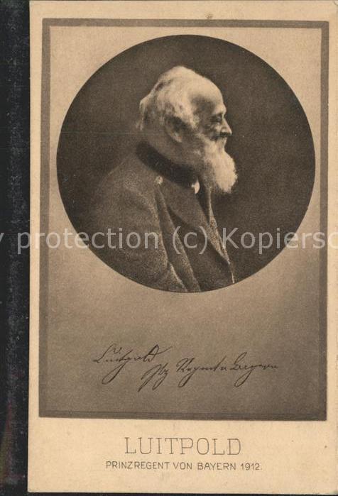 Adel Bayern Luitpold Prinzregent v. Bayern 1912 / Koenigshaeuser /