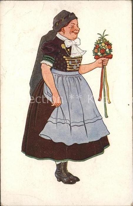 Trachten Frau Blumenstrauss / Trachten /