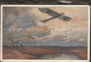 Kuenstlerkarte Flugzeug Krieg Luftflotten-Verein / Kuenstlerkarte /