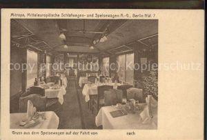 Eisenbahn Mitropa Schlafwagen- Speisewagen  / Eisenbahn /