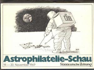 Zeitung Astrophilatelie Schau Suedeutsche Zeitung Mond / Druckerei /