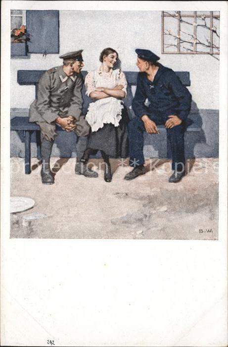 Wennerberg Brynolf Nr. 16 Geplaenkel Soldaten / Kuenstlerkarte /