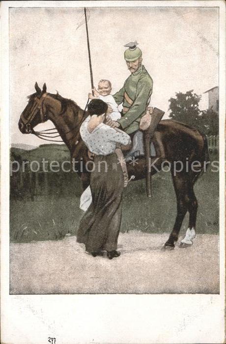 Wennerberg Brynolf Nr. 1 Abschied Soldat Kind / Kuenstlerkarte /