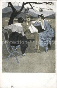 Wennerberg Brynolf Nr. 3 Daheim Zigarre / Kuenstlerkarte /