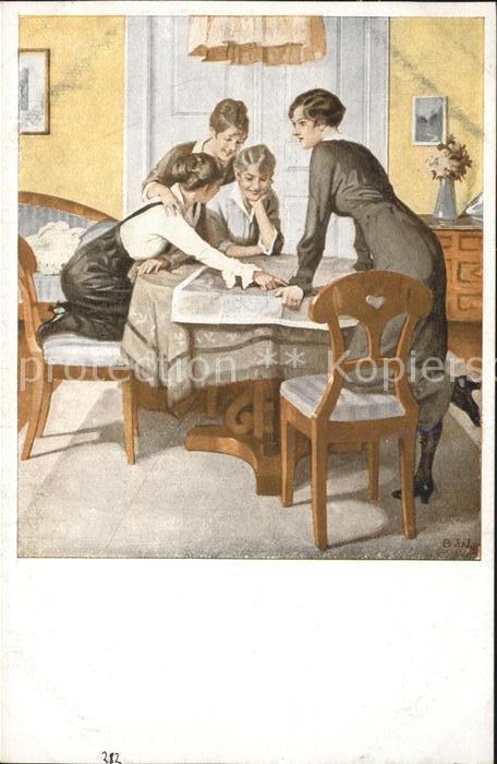 Wennerberg Brynolf Nr. 6 Strategie Kriegspostkarte / Kuenstlerkarte /