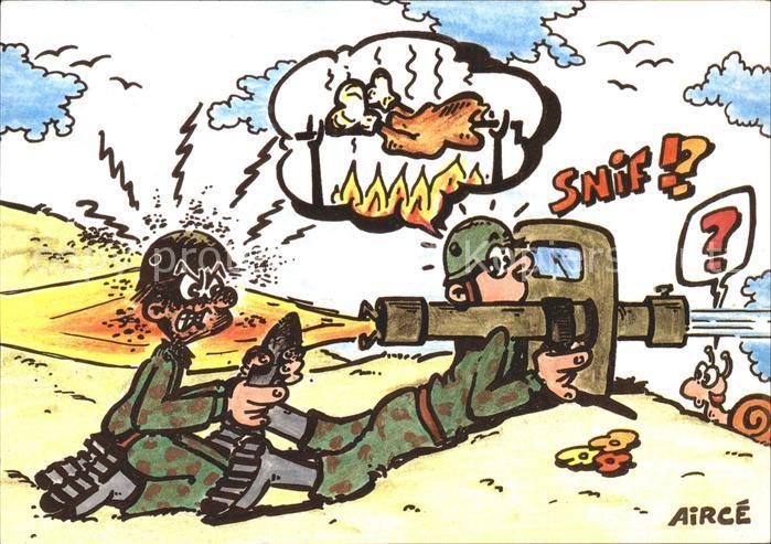Comic Airce Humor Soldat Kanone / Comic /