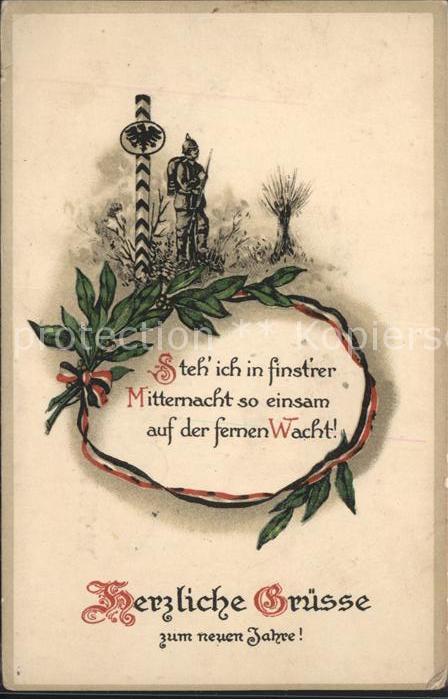 Neujahr Soldat Spruch Wacht / Greetings /