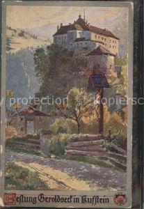 Burgen Kuenstlerkarte F. H. Festung Geroldsee Kufstein / Burgen und Schloesser /