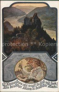 Burgen Donau Spruch Kuenstlerkarte  / Burgen und Schloesser /