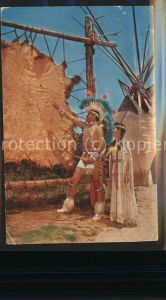 Indianer Native American Dixon Palmer Buffalo hide Indian City USA  Kat. Regionales