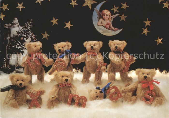 Teddy Weihnachten.Teddy Teddybaer Teddy Bear Weihnachten Engel Mond Sterne Nikolaus Kat Kinderspielzeug