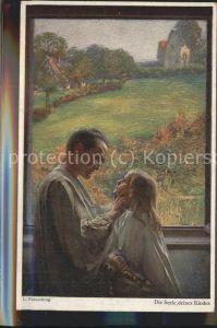 Kuenstlerkarte L. Fahrenkrog Die Seele deines Kindes Nr. 539 Kat. Kuenstlerkarte
