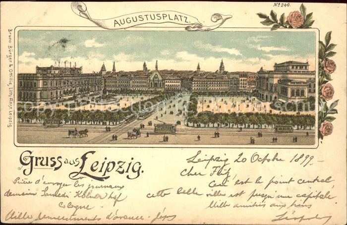 Strassenbahn Leipzig Augustusplatz Kat. Strassenbahn