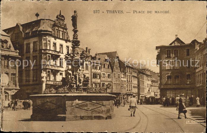 Trier Marktplatz Treves Place du Marche Kat. Trier