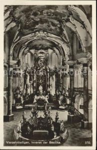 Vierzehnheiligen Basilika Inneres Kat. Bad Staffelstein