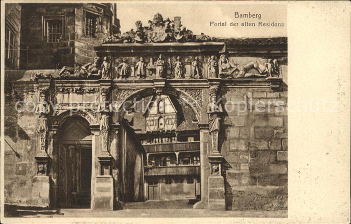 Bamberg Portal alten Residenz Kat. Bamberg