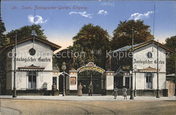 Koeln Rhein Zoologischer Garten Eingang Kat. Koeln