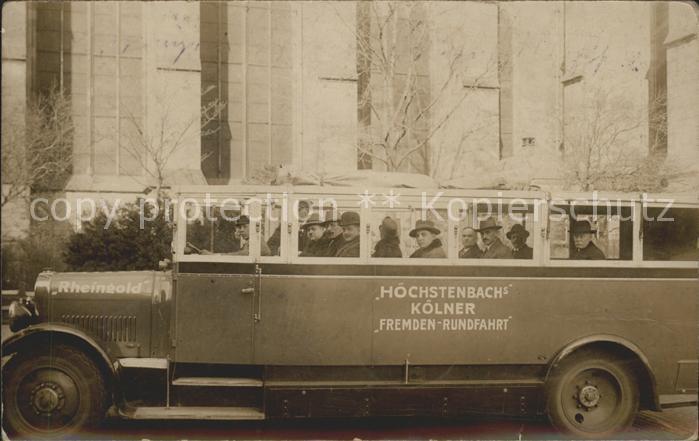 Koeln Rhein Hoechstenbachs Stadtrundfahrt Bus Kat. Koeln