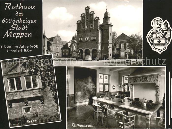 Meppen Rathaus Wappen Rathaussaal Erker Kat. Meppen