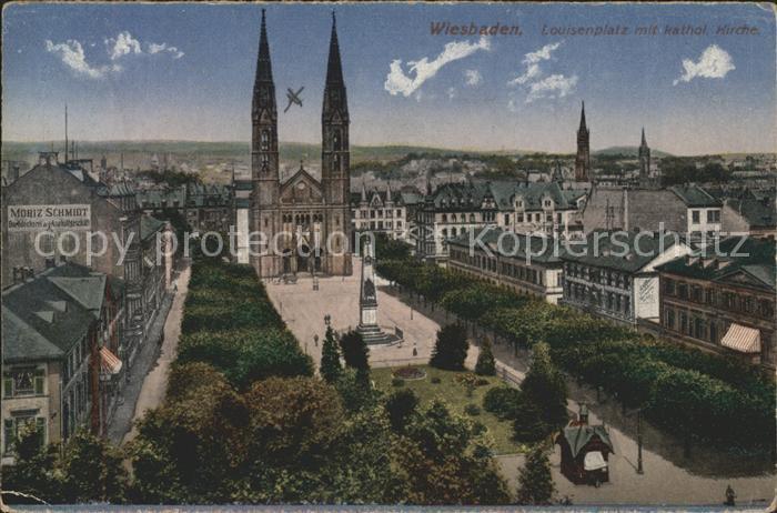 Wiesbaden Louisenplatz kathol. Kirche Kat. Wiesbaden