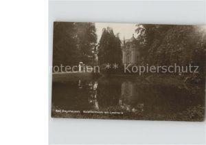 Bad Oeynhausen Goldfischteich mit Lesehalle Kat. Bad Oeynhausen