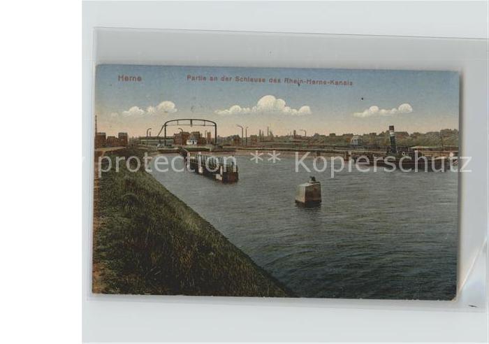 Herne Westfalen Schleuse Rhein Herne Kanal / Herne /Herne Stadtkreis
