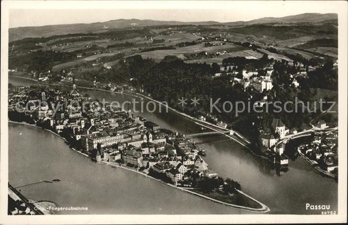 Passau Fliegeraufnahme Kat. Passau