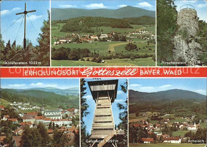 Gotteszell Klosterstein Panorama Hirschenstein Geisskopf Achslach Kat. Gotteszell