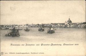 Duesseldorf Panorama Industrie und Gewerbe Ausstellung 1902 Kat. Duesseldorf