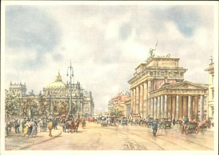Berlin Brandenburger Tor Aquarell Kat. Berlin