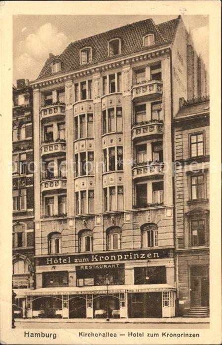 Hamburg Kirchenallee Hotel zum Kronprinzen Kat. Hamburg