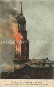 Hamburg Brand der Michaeliskirche 5. Juli 1905 Kat. Hamburg